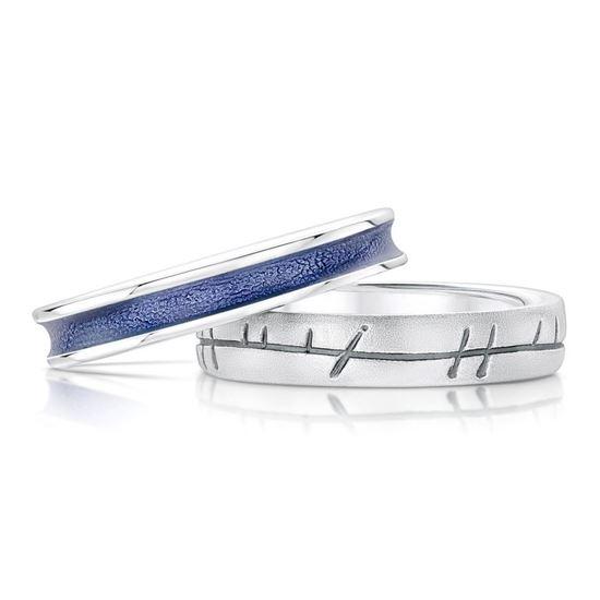 Sheila Fleet - Halo Ring Set (enamel colour shown in Purple)