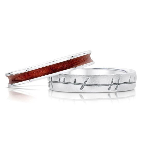 Sheila Fleet - Halo Ring Set (enamel colour shown in Red)