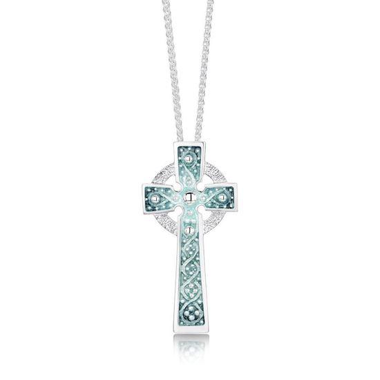 Sheila Fleet - Iona Cross (enamel colour shown in Moss)