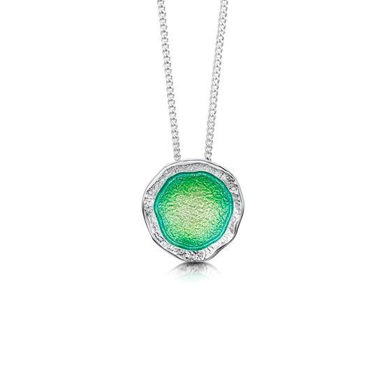 Sheila Fleet - Lunar Pendant (enamel colour shown in Spring Green)