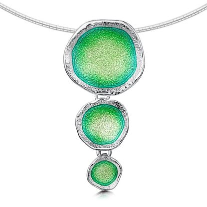 Sheila Fleet - Lunar Necklet (enamel colour shown in Spring Green)