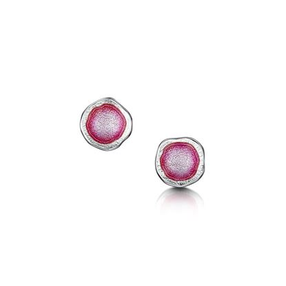 Sheila Fleet - Lunar Earrings (enamel colour shown in Hot Pink)