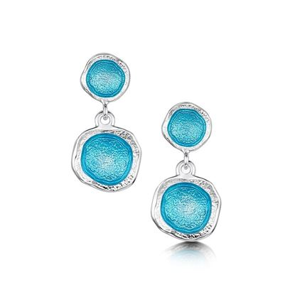 Sheila Fleet - Lunar Earrings (enamel colour shown in Tropical)