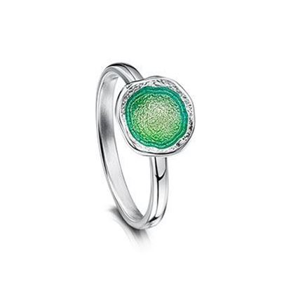 Sheila Fleet - Lunar Ring (enamel colour shown in Spring Green)