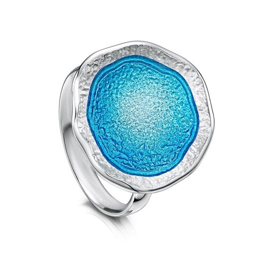 Sheila Fleet - Lunar Ring (enamel colour shown in Tropical)