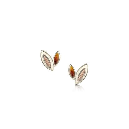 Sheila Fleet - EE00265 (shown in 18ct White and Rose Gold, with Autumn enamel)
