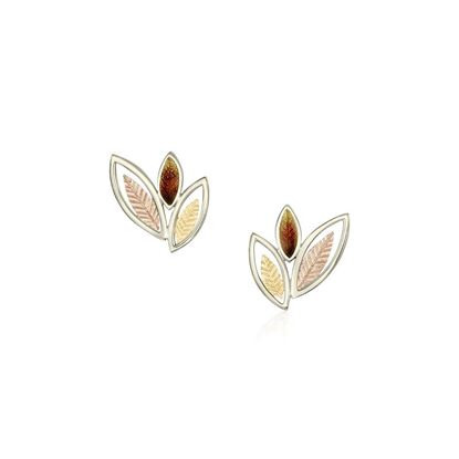 Sheila Fleet - EEX266 (shown in 18ct White, Yellow and Rose Gold with Autumn enamel)