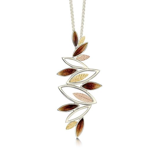 Sheila Fleet - EPX265 (shown in 18ct White, Yellow and Rose Gold with Autumn enamel)