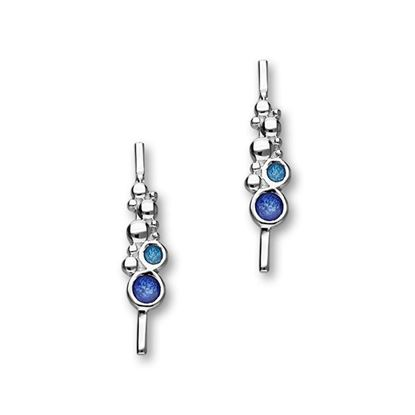 Ortak - Dröfn Earrings (shown in Ultramarine enamel)